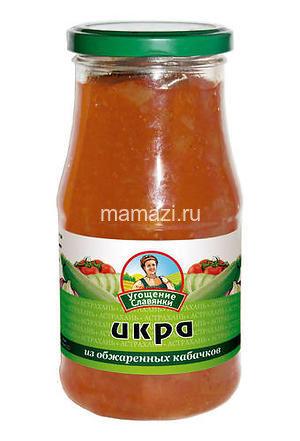 """Икра кабачковая 520гр """"Угощение Славянки"""""""